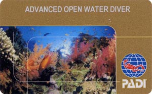PADI Advanced Open Water Diver лиц. сторона